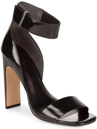 Halston Open Toe Leather Sandal