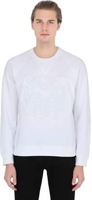 Kenzo Mesh Tiger Embroidered Cotton Sweatshirt