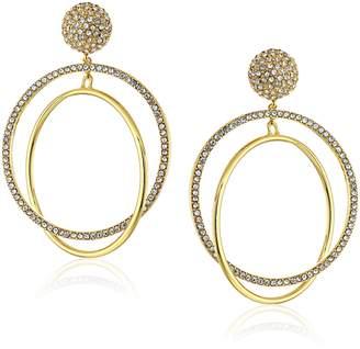 Kate Spade Gold-Tone Drop Hoop Earrings