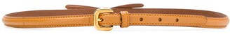 Prada bow detail slim buckle belt