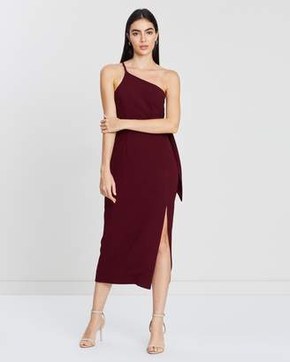 9d600d33579 Shona Joy One-Shoulder Fitted Midi Dress with Belt
