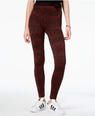 Hippie Rose Juniors' Printed Fleece-Lined Leggings