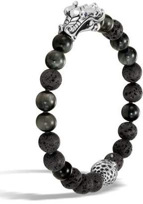 John Hardy Men's Legends Naga Dragon Bead Bracelet