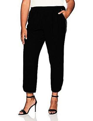 Nine West Women's Plus Size Pull On Pant Binding