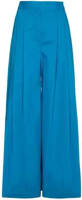 Vika Gazinskaya Silk Pleat Front Trousers