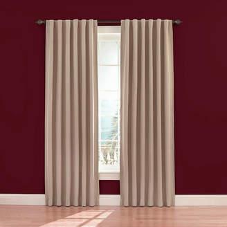 Eclipse Fresno Rod-Pocket/Back-Tab Blackout Curtain Panel