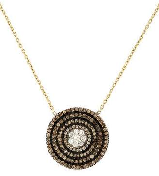18K Diamond Disc Pendant Necklace