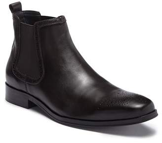 Tallia Samuele Brogue Leather Chelsea Boot