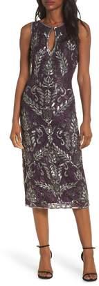 Pisarro Nights Sequin Lace Sheath Dress