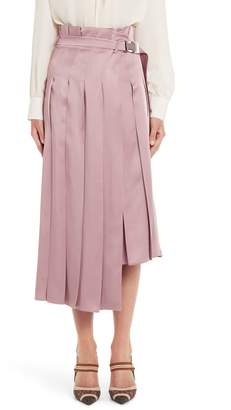 Fendi Pleated Satin Skirt