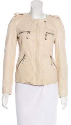 Etoile Isabel Marant Zip-Up Leather Jacket w/ Tags