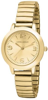 Laura Ashley Gold Stretch Bracelet Watch