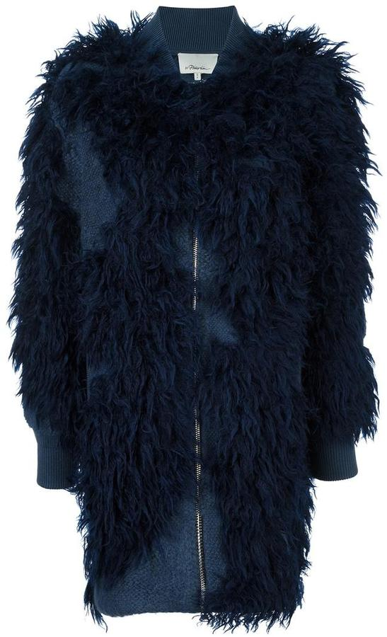 3.1 Phillip Lim 3.1 Phillip Lim faux fur knit bomber coat
