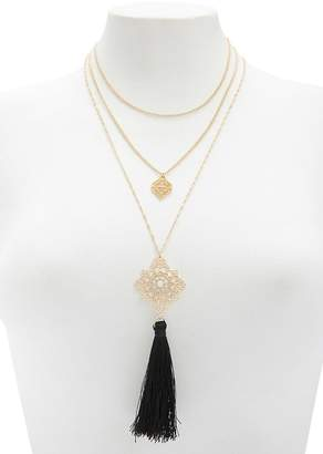Forever 21 Tassel Necklace Set