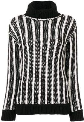 Saint Laurent chevron pattern knitted sweater