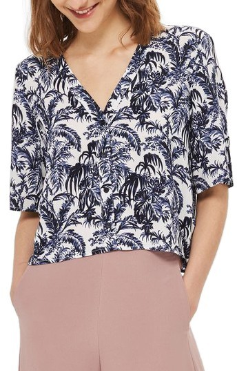 Topshop Petite Women's Topshop Holly Willow Shirt