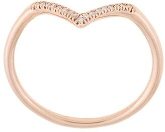 Natalie Marie 14kt rose gold diamond point ring