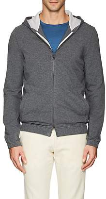 Loro Piana Men's Stretch-Cotton Hooded Bomber Jacket