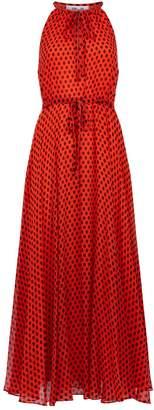 Diane von Furstenberg Polka Dot Halterneck Silk Dress