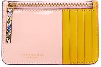 Tory Burch COLOR-BLOCK TOP-ZIP CARD CASE