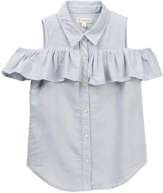 Tucker + Tate Ruffle Cold Shoulder Top (Big Girls)