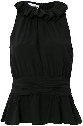 Moschino ruffle neck sleeveless top