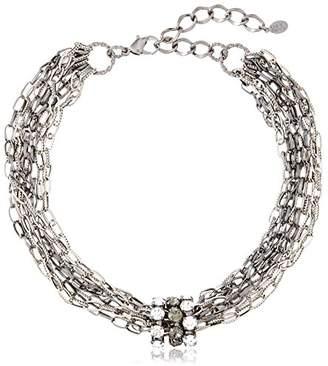 Lesile Danzis Crystal Embellished Chain Choker