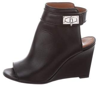 Givenchy Cutout Wedge Ankle Boots