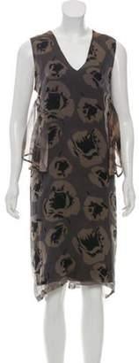 Dries Van Noten Printed Silk Dress w/ Tags Brown Printed Silk Dress w/ Tags