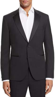 Hugo Black Slim Fit Tuxedo Jacket $645 thestylecure.com