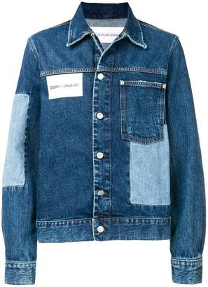 Calvin Klein Jeans patchwork denim jacket