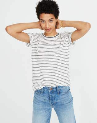 Madewell Whisper Cotton Ringer Tee in Damien Stripe