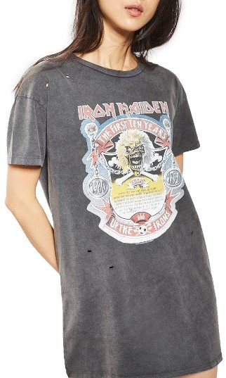 Topshop Women's Topshop By And Finally Iron Maiden T-Shirt Dress