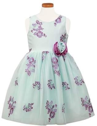 Sorbet Embroidered Floral Tulle Dress