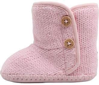 UGG Baby Girls Purl Booties Bright Pink