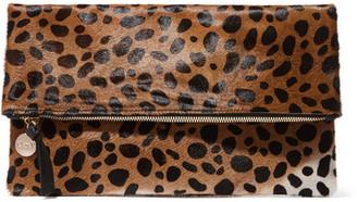 Clare V - Leopard-print Calf Hair Clutch - Leopard print $275 thestylecure.com
