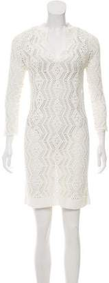 Rachel Zoe Crochet Long Sleeve Dress