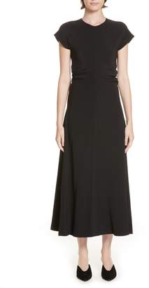 Rosetta Getty Ruched Stretch Cady Dress