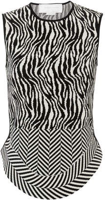 Esteban Cortazar Corset Open Back Knit Top