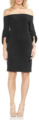 Vince Camuto Off the Shoulder Cinched Sleeve Sheath Dress