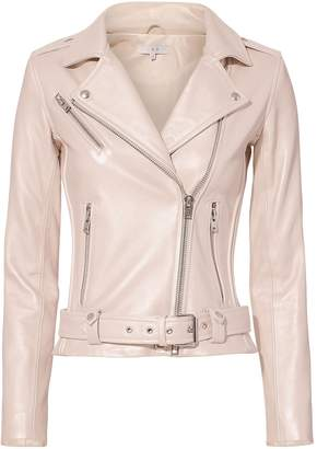 IRO Mila Pink Leather Jacket