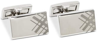 Ryan Seacrest Distinction Men's Engraved Plaid Cuff Links, Created for Macy's