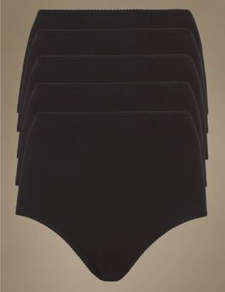 Marks and Spencer 5 Pack Cotton Rich Full Briefs with New & Improved Fabric