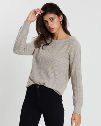 Supre Dallas Long Sleeve Off-Shoulder Knit