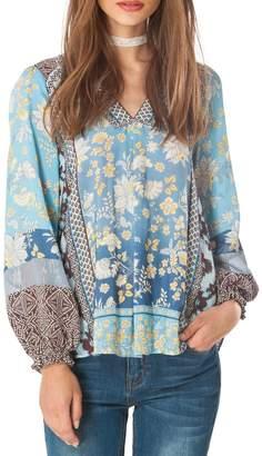 Hale Bob Athena Floral Tunic Top