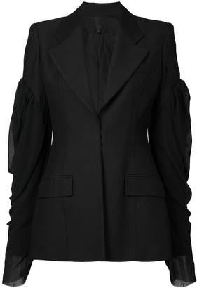 Vera Wang puff sleeve blazer