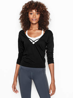 Victoria Sport Strappy Long Sleeve Top