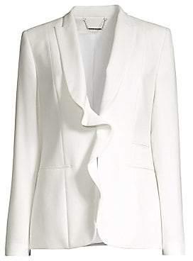 9df0cb491a36 Elie Tahari Women s Serena Ruffle Front Jacket - Size 0