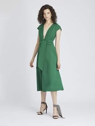 Oscar de la Renta Stretch-Wool Cady Dress