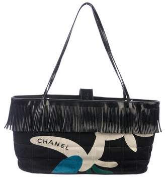 bb05d7da6433 Chanel Quilted Canvas Fringe Tote